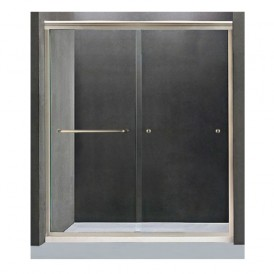 Frame Sliding Door Accessories with Tempered Glass 04S02
