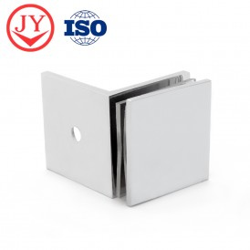 Traditional Square Edges Wall to Glass Clamp GC-7-90BS